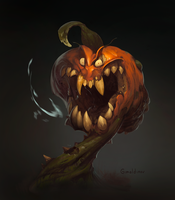 Creepy Pumpkin by Gimaldinov