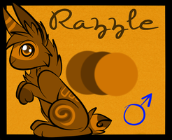 Adoptable Ref Sheet: Razzle by BipolarWolfy