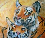 Tiger couple by Heliocyan
