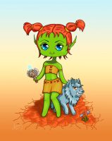 Baby orc with her mount by AmbyRough