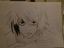 L // DEATH NOTE step 1. by Nellass