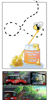 Honey and the Bee READ ARTIST COMMENTS by FauxBoy