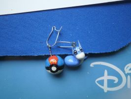 dratini earrings by ChibiLinda