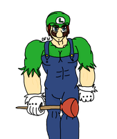 [GIFT] Luigi's gonna take care of your shit by Dustyfootwarrior
