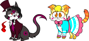 (Archive) Two Cats by Centaurman-plz