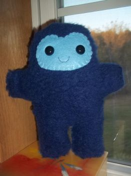 Adorable Blue Furry Frost Giant Plush by SuperRainbowOctopus