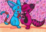 Kitty cat dance party! by BunnybeIIe