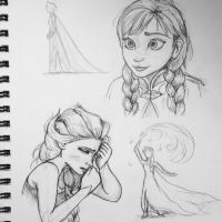 Frozen Sketches II by tarried-sea