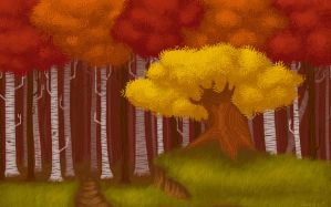 Autumn Forest by rsautoart