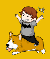 Brian Danger + Corgi by b-dangerous