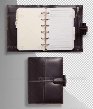 Pocket Organiser Photo-realistic Isolated by Ondrejvasak
