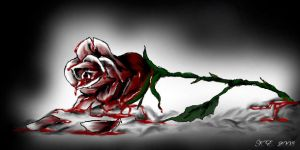 Bleeding Rose by RavenWings