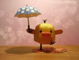 Yellow Chick: Rainy Days by Lyrin-83
