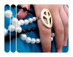 peace and love ...beads by madmooage