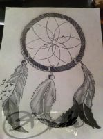 dream catcher tattoo by DontEvenTripBro