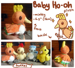 Baby Ho-oh plush by SilkenCat