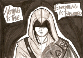Assassin's Creed ATCs by ifihadacoconut