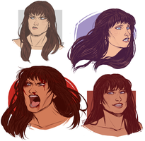 XENA: WARRIOR CHEEKBONES by MrsDrPepper