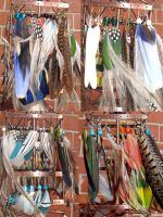 feather earrings spring collection by rain2shine