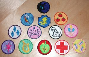 MLP Merit Badges by EthePony