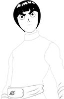 Rock Lee Lineart by Hand-Banana