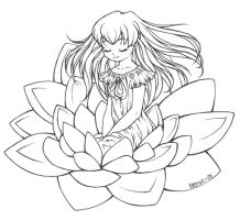 Waterlily. Lineart. by BenyiHS