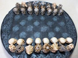 Skull Chess Pieces by littleme1969