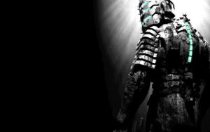 Dead Space Isaac Clarke Black White And Blue Wallp by RedVirtuoso