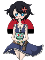 Poke'mon Trainer Lilly by rawrmuffens