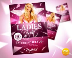 Ladies Night Party Flyer by Party-Flyer