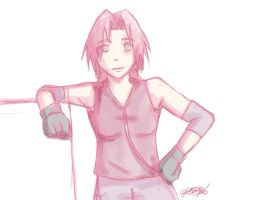 Sketchy Sakura by cheezkit