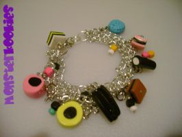 Licorice Allsorts Bracelet by monsterkookies