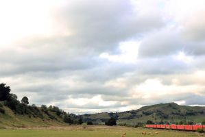 Train through Landscape by agreenbattery