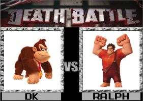 DEATH BATTLE! Donkey Kong vs Wreck it Ralph by captainfranko