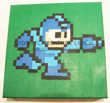 Megaman Running by 8bitgallery