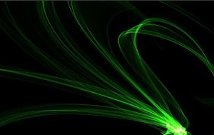 Abstract Green Flames by emberstar13