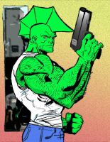 Savage Dragon colours by dynakor
