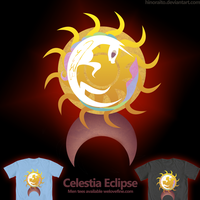Welovefine: MLP FIM - Celestia Eclipse Tee by hinoraito
