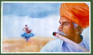 oil colour painting. by maheshv
