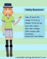 Pokemon OC ~ Hailey Beaumont [WIP bio in desc.]