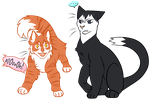 volleyball cats by dog-san