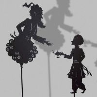 Aladin and Djini-Shadow Puppet by PaperTales