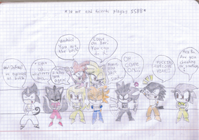 a drawing - playing with my friends XD by Bar-Kun