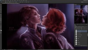 Maria Hill x Black Widow WIP 2 by Nia90