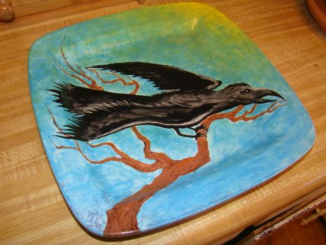 Ceramic Plate Painting by sticksnstones89