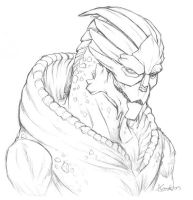 Turian Soldier (Merchandise Available) by shutterbones