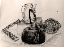 Still life drawing since 2003 #1 by Feohria