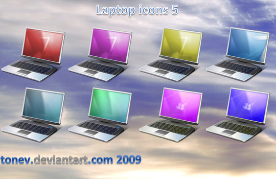 Laptop icons 5 by tonev