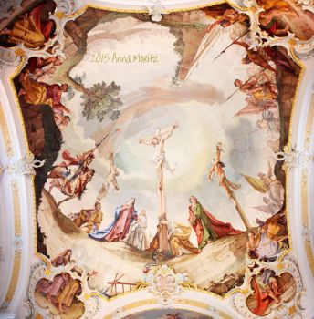 Ceiling fresco of the Mentlberg chapel -17th cntry by annamnt