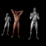 Three Figures by cable9tuba
